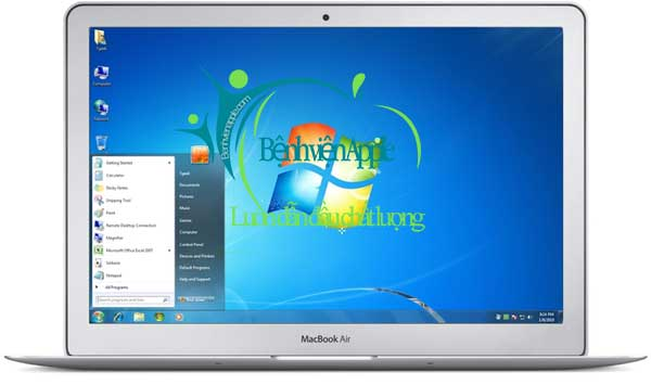 Macbook chạy windows 7 mượt mà