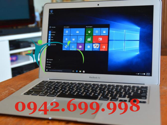 Macbook Air cài đặt windows 10